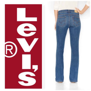 Women's Levi's 529 Curvy Bootcut Jeans Blue 16 NWT